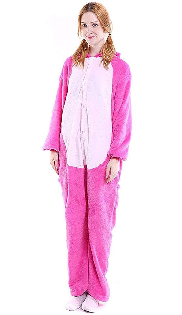 Adult Animal Pajamas Costume, Unisex One Piece Animal Flannel Halloween Jumpsuits