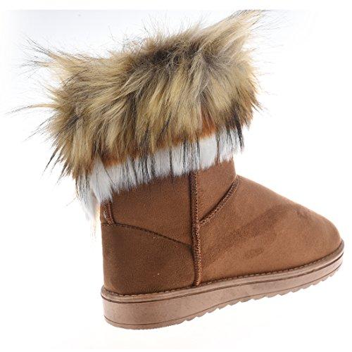 Snow Boots - SODIAL(R)Women's Fashion Artificial Fox Fur Warm Autumn Winter Snow Women Boots Shoes Lady Short Boots Casual Long Snow Shoes (Tan, EU36=US5.5) Tan