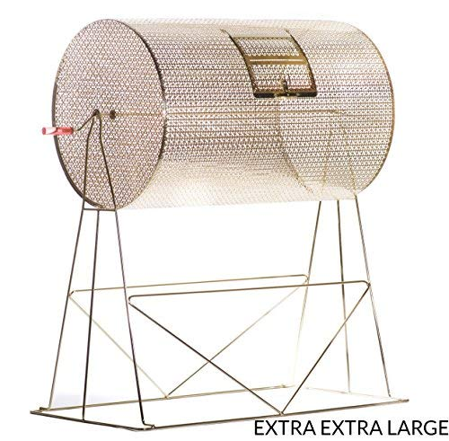 MR CHIPS Professional Lottery Spinning Drawing for Manual Bingo Cages - Brass Plated Casino Raffle Drums - Available in 5 Sizes - 20,000 Tickets - XXL]()
