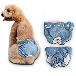 S-Lifeeling Small/Medium Female Dog Diapers Sanitory Pet Puppy Pants Panties