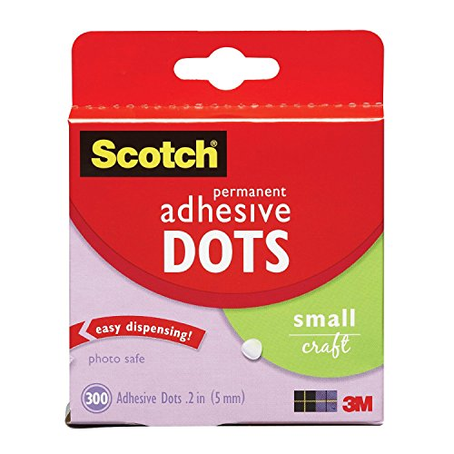 Scotch 010-300S 300-Pack Adhesive Dots, Small, 4-PACK