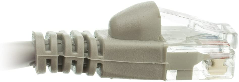 ACL 6 Inch RJ45 Snagless//Molded Boot Gray Cat6 Ethernet Lan Cable 4 Pack