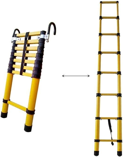 YXLONG Escalera Telescópica Escalera Plegable De Aluminio Escalera Multifunción Fácil De Transportar Capacidad Máxima De Carga 150 Kg,4M/13.1ft: Amazon.es: Jardín