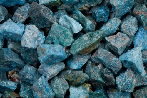 Fantasia Materials: 1 lb Blue Apatite Rough from Madagascar - (Select 1 to 18 lbs) - Raw Natural Crystals for Cabbing, Cutting, Lapidary, Tumbling, Polishing, Wire Wrapping, Wicca & Reiki ()