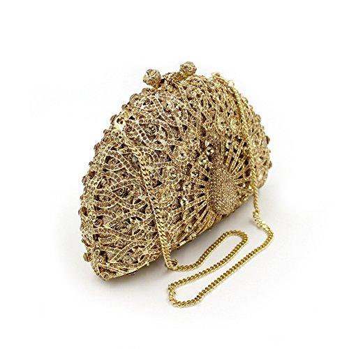 du à sac a Rhinocéros sac de Parti Golden main luxe Portefeuille soir Paon sac n6nCBxq