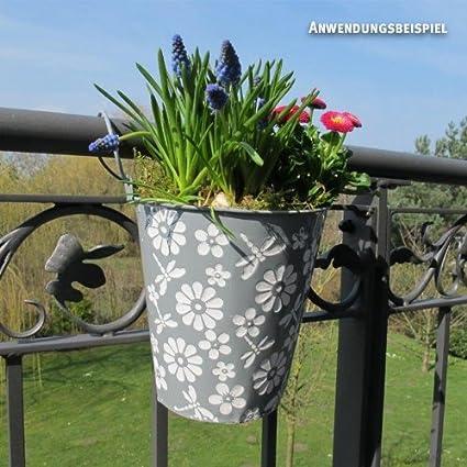 Balkon Hangetopf Capri Halbrund Stein H20 X 20 X 11cm Amazon De Garten