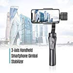 AQ TRADING 3-Axis Handheld Gimbal 360° Rotation Pan Inception Mode Stunning Motion Timelapse Stabilizer for Smartphone iPhone 11 pro max,Note 10 Plus, 6