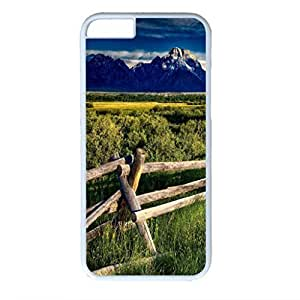 Snow Mountain Personalized Design White PC Case for Iphone 6 Prairie