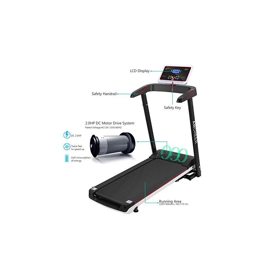 Simpfree Electric Folding Treadmill, Motorized Running Machine
