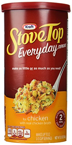Kraft, Stove Top, Everyday, Chicken Stuffing, 12oz Canister (Pack of 3) (Stove Top Stuffing Mix)