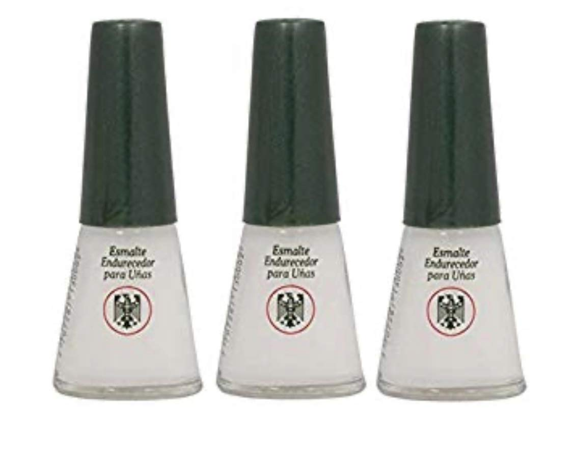 3 Bottles Quimica Alemana Nail Hardener Strengthener Polish Treatment 0.47 oz by Quimica Alemana