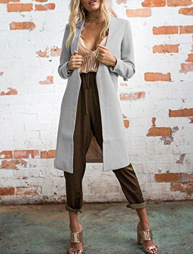 Abrigo gris Leezeshaw para Leezeshaw Abrigo mujer EvnUw8qfw1