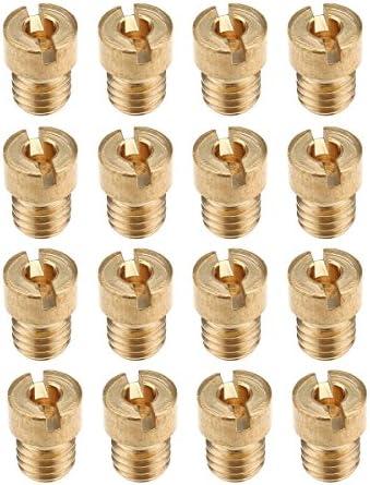 WenJiaShanGDSH Jet Principal de carburateur 10pcs M5 gicleur Principal for Keihin PWK OKO KOSO Carburateur 105 108 110 100 115 120 125 130 135 140 pour Moto Color : Gold
