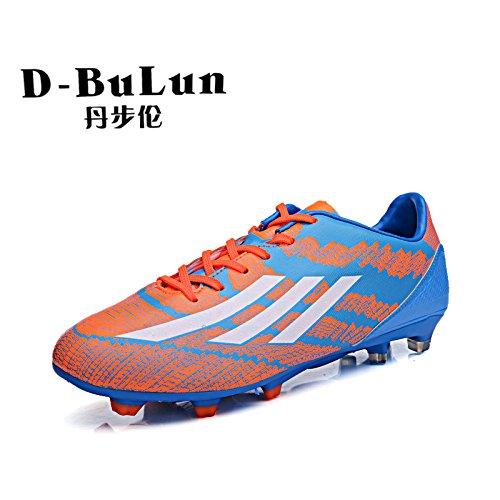 Xing Lin Botas De Fútbol Los Adolescentes Pegamento De Uñas Zapatos De Fútbol Zapatos De Fútbol Antideslizante Blue Orange