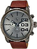 Diesel Men's DZ4210 Advanced Gunmetal-Tone Stainless Steel Watch with Brown Leather B