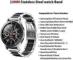 SUNDAREE Compatible con Correa Galaxy Watch 46MM,22MM Metal Acero ...