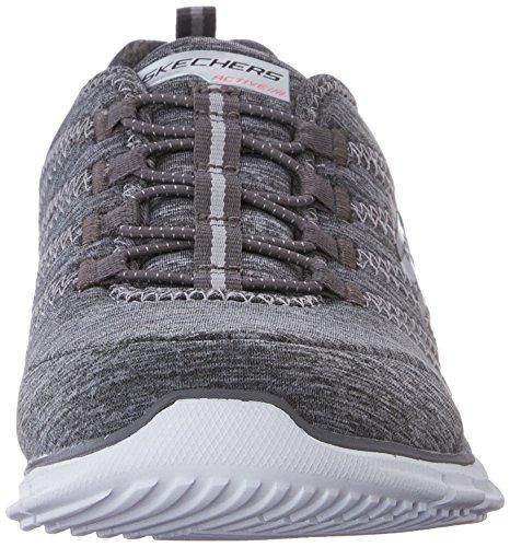 Skechers Sport Donna Aliante Elettricità Sneaker Grigio / Acqua