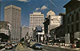 Looking along Portage Avenue towards Portage and Main Winnipeg, Manitoba Canada Original Vintage Postcard
