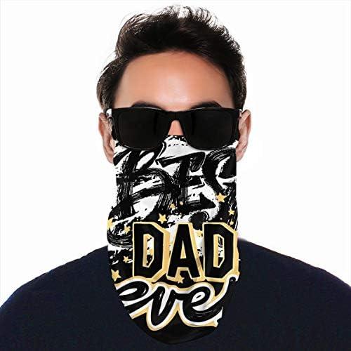 フェイスカバー Uvカット ネックガード 冷感 夏用 日焼け防止 飛沫防止 耳かけタイプ レディース メンズ BEST DAD EVER