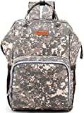 Diaper Bag Backpack - Chambag Large Multi-Function Bag, Dad Mom Nappy Changing Backpack for Baby, School Backpack for Student, Waterproof Travel Gear Backpack for Men Women- Camouflage