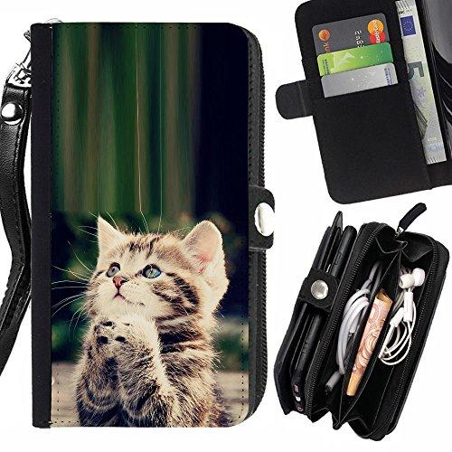 STPlus Gato en una caja Animal Monedero Con Correa y Cremallera Carcasa Funda para Sony Xperia XA #4