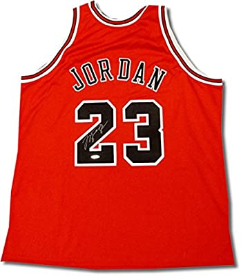 Michael Jordan Hand Signed Autographed Chicago Bulls Red Home Jersey UDA