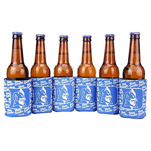 Duke Beer - Kolder NCAA Collegiate 6 Pack Bundle Neoprene Can Coozies (Duke Blue Devils (Repeat))