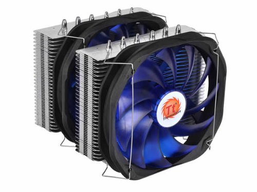 Thermaltake Frio Extreme Universal CPU Cooler with Ultimate Over-Clocking Support of 250W TDP Dual 140mm VR/PWM Fans CLP0587
