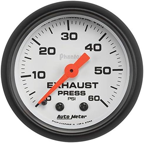 オートメータ (5725) ファントム 2-1/16インチ 0-60 PSI 機械式排気圧力計