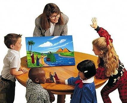 Amazon.com: Small Deluxe Flannel Board Felt Bible Story Set in ...