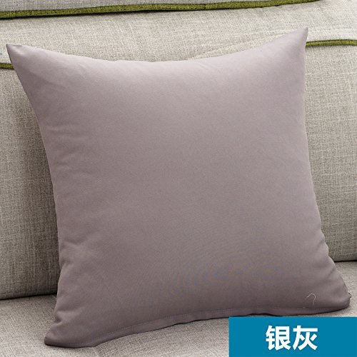 HOMEE Pillow Sofa Cushion Office Pillow to the Head of the Backrest Automotive Lumbar Pillow Lunch Sleeping Pillow Back Support Cushion Pillow Kit-,60X60Cm, Western Van,Silver Gray,60X60cm