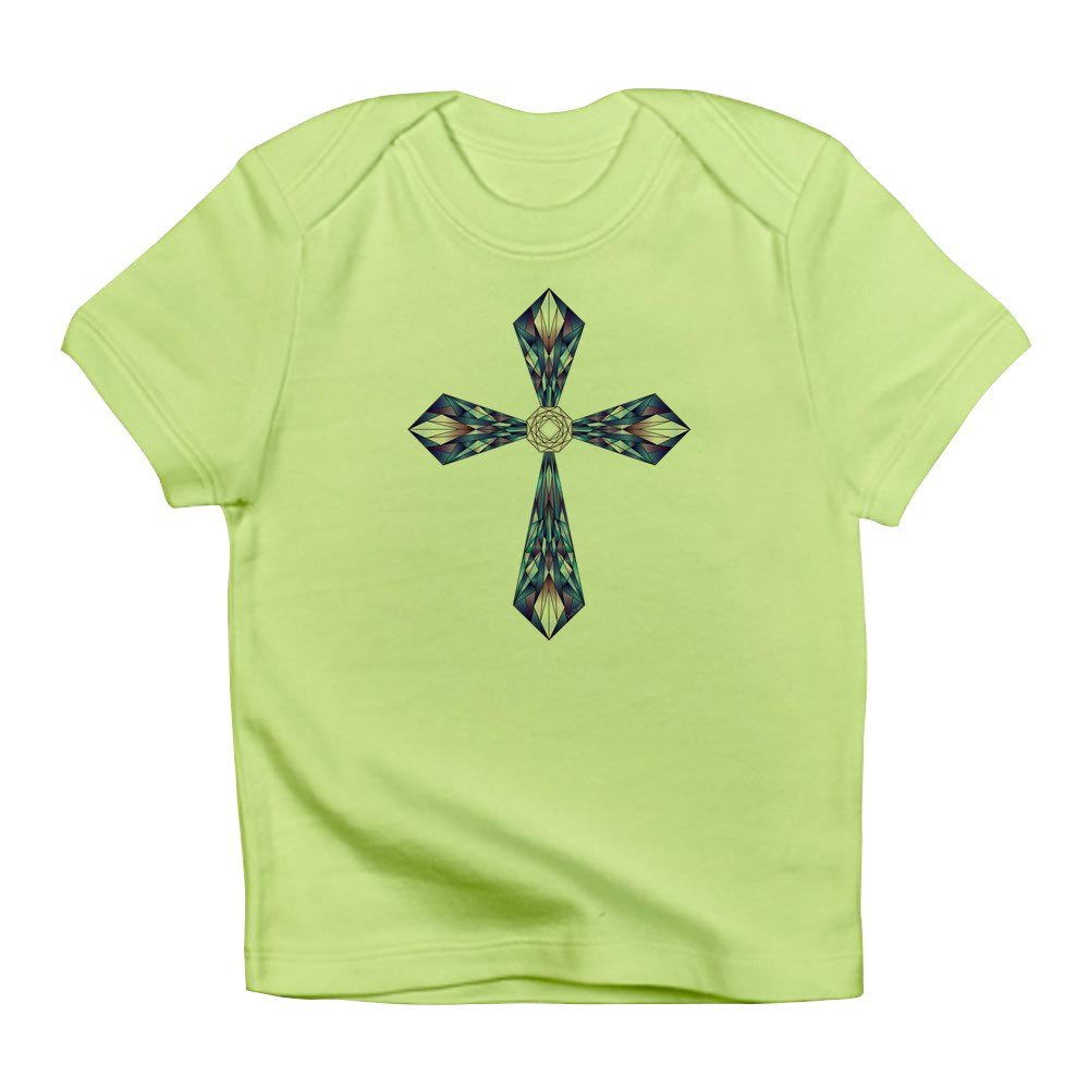 Truly Teague Infant T-Shirt Stained Glass Cross Kiwi 6 To 12 Months