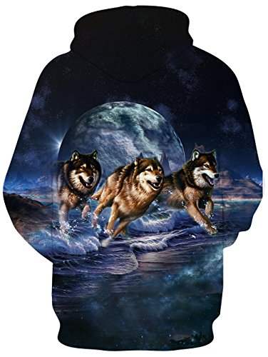 Loveternal Mens Womens Fleece Liner Hoodies 3D Printed Graphic Novelty Pullover Hooded Sweatshirts