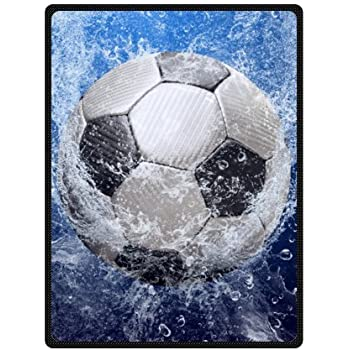 Amazon WECE Fleece Throws Football Soccer Ball Blankets 40 X Extraordinary Soccer Blankets And Throws