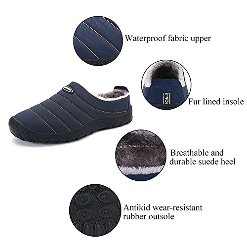 Slip Anti Slippers Winter Mens Khaki House ASLISA Outdoor Slippers Womens Indoor Snow zwgRn8Oq