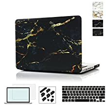 RYGOU Macbook Pro 13 Case,4 in 1 Marble Hard Case with Keyboard Cover Screen Shell for Apple Macbook Pro 13 inch with CD/DVD-Drive Model: A1278 (NOT Fit Macbook Pro Retina Display)