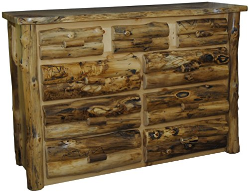 Furniture Barn USA Rustic Aspen Log 9 Drawer Dresser (Chest Log Aspen)