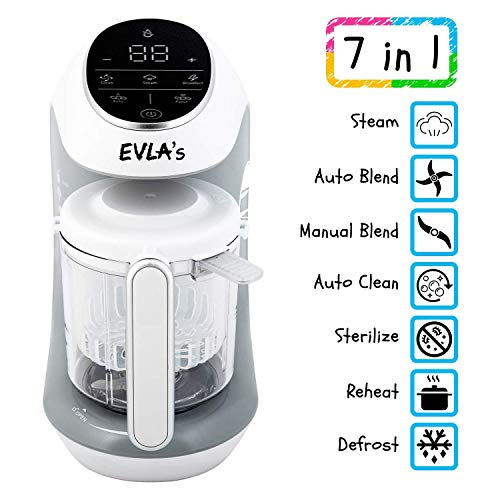 51Yl4LJqP2L - Baby Food Maker | Baby Food Processor Blender Grinder Steamer | Cooks & Blends Healthy Homemade Baby Food In Minutes | Self Cleans | Touch Screen Control | 6 Reusable Food Pouches