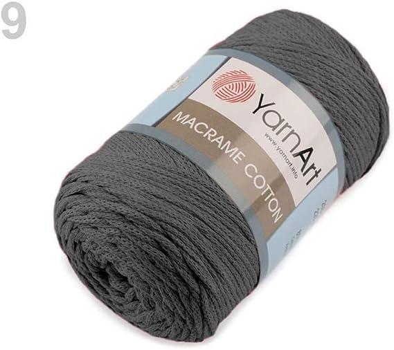 1 ovillo de hilo para tejer de algodón de macramé de 250 g para ...