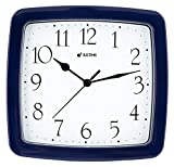 8.5-inch Quality Square Water Resistant Quartz Wall Clock Water Resistant Special for Small Space, Office, Boats, RV (W40506 Dark Blue)