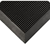 """Wearwell Natural Rubber 220 Multi-Guard Heavy Duty Mat, for Outdoor Entrances, 24"""" Width x 32"""" Length x 1/2"""" Thickness, Black"""