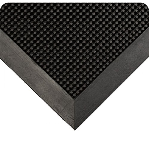 Rubber Nitrile Mats Heavy Duty (Wearwell Natural Rubber 220 Multi-Guard Heavy Duty Mat, for Outdoor Entrances, 3' Width x 6' Length x 1/2