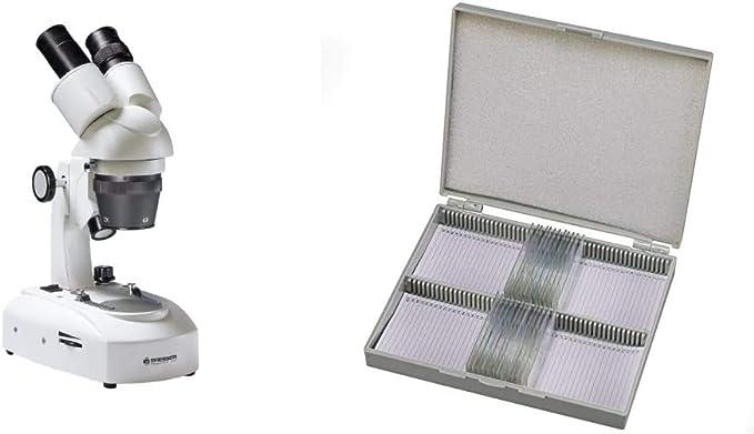 Bresser 3d Stereo Auflicht Durchlicht Mikroskop Researcher Icd Led 20x 80x Vergrößerung Dauerpräparate Für Mikroskop 25 Stück Vorgefertigte Und Konservierte Präparate Zu Verschiedenen Themen Gewerbe Industrie Wissenschaft