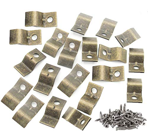 Table Top Fasteners with Screws, Desk Top Fasteners, Heavy Duty Table Top Connectors/Table Clips/Table Top Brackets, Set…