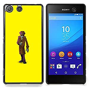 Mystery Man Suit Cartoon Caja protectora de pl??stico duro Dise?¡Àado King Case For Sony Xperia M5