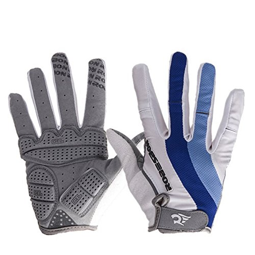 Full Finger Cycling Gloves, Mountain Road Gloves Anti-Slip Shock - Absorbing Silica Gel Grip, Bicycle Racing Gloves Motocross Riding Cycling Gloves Biking Gloves Fit for Men & Women