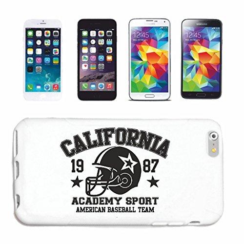 caja del teléfono iPhone 7S California Sports Akademy americano Béisbol equipo de béisbol BÉISBOL bate de béisbol jugador de béisbol EQUIPO camiseta béisbol Caso duro de la cubierta Teléfono Cubiert