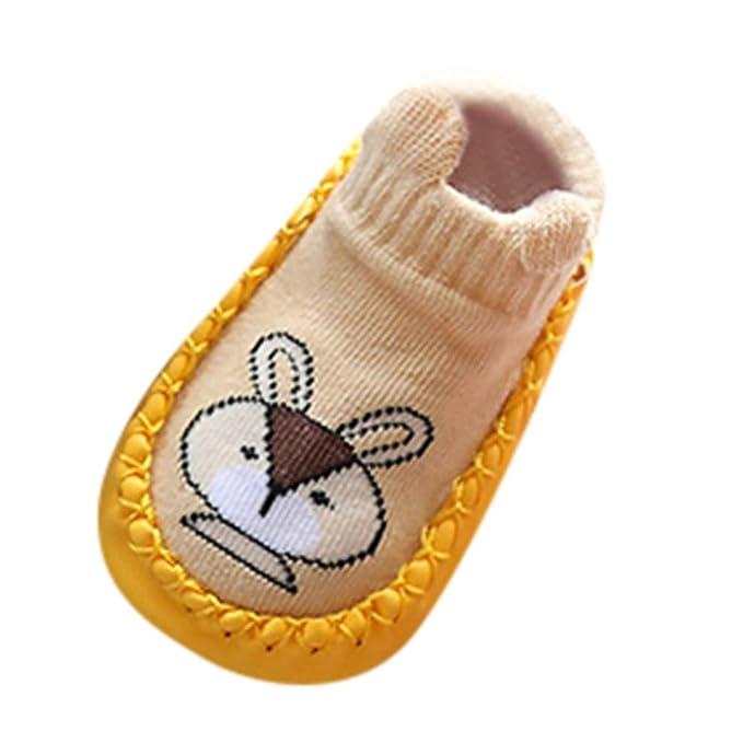 YanHoo Zapatos para niños Bebé Infantil niña Dibujos Animados Animal Suave Inferior Antideslizante Calzado Calcetines Animales bebés niñas niños Calcetines ...