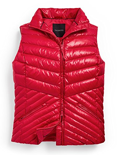 Talbots Chevron Quilted Puffer Vest