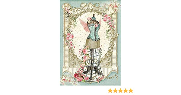 Mannequin with Flowers New DFSA4343 Stamperia Rice Paper A4